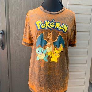 Pokémon Orange T-shirt Size: L